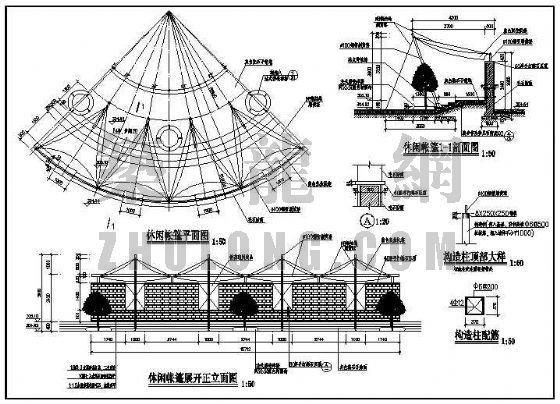 休闲帐篷详图-3