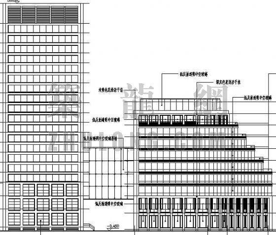 上海市某议事中心建筑施工图