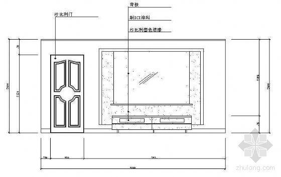 客厅立面图1