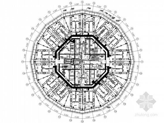 [郑州]商业综合大楼空调通风设计施工图(280米,24万平)