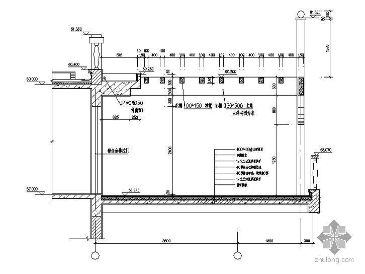 高层建筑施工图-标准层电梯间放大平面图