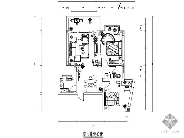 某简约家装两室两厅装修图