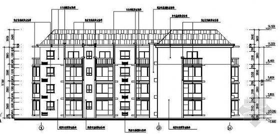 某军营四层宿舍楼建筑结构图纸