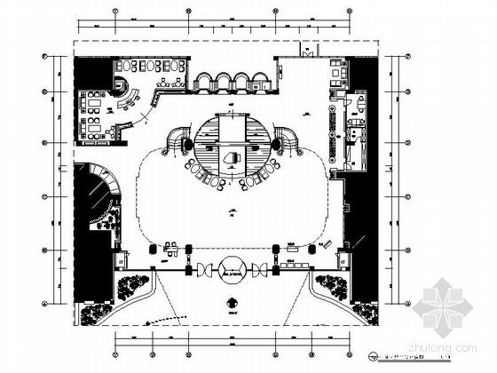 [长沙]典雅综合型豪华五星级酒店大堂装修设计施工图(含效果)