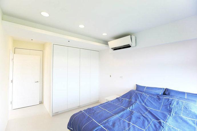 95平简约二居客厅背景墙电视墙设计效果图_9