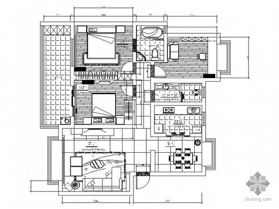 三室两厅一厨两卫装修图