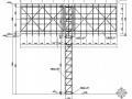 两个路边钢结构广告牌结构设计图