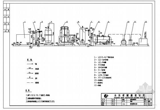 东阿某污水厂施工图