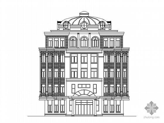 [哈尔滨]某区五层小型图书馆建筑施工图