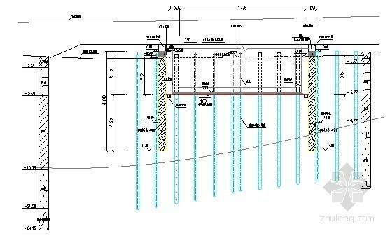 [广东]下穿箱涵基坑开挖支护施工方案(钻孔桩 锚索)