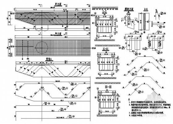 预应力混凝土连续箱梁高架桥桥墩盖梁普通钢筋构造节点详图设计