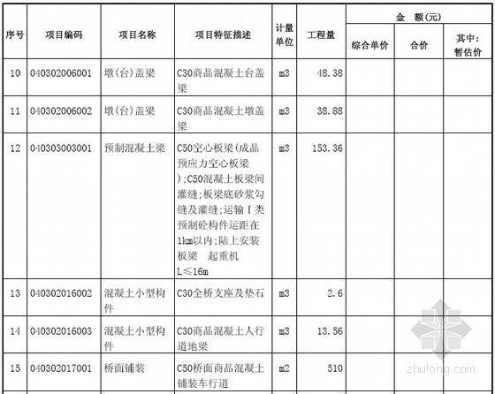 [江苏]城市桥梁新建工程招标文件(含招标工程量清单)