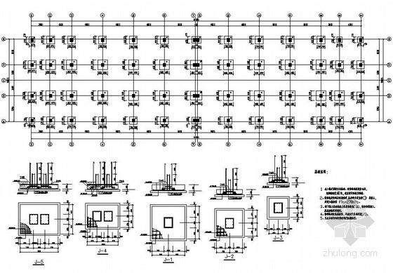 某2层框架厂房结构设计图