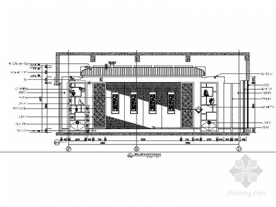 [苏州]奢华欧式风格商务会所七层客房区室内装修图(含效果) 大客厅立面