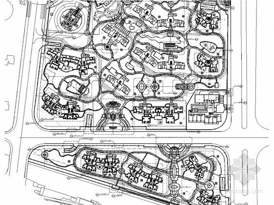[佛山]著名地产项目二期居住区景观工程全套施工图(著名设计公司)