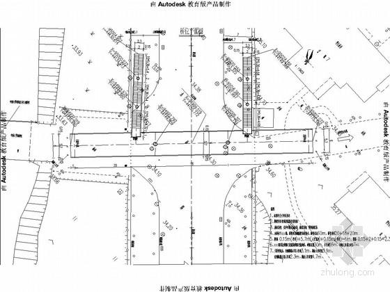 公寓门口人行天桥施工图34张(钢箱梁)