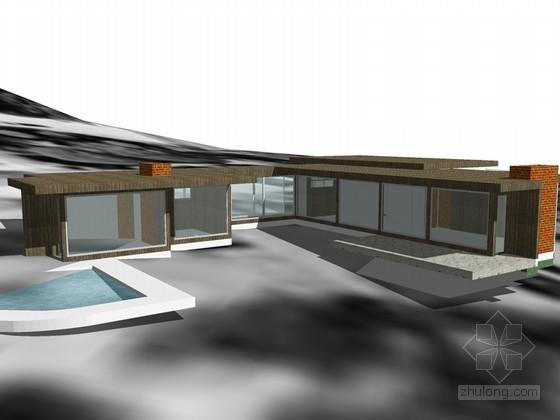 实验住宅SketchUp模型下载