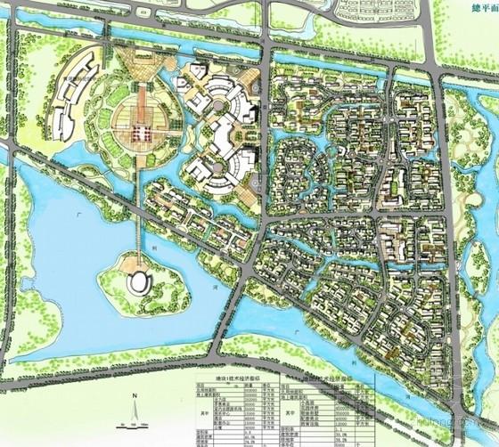 现代风格多功能城市综合体总平面图