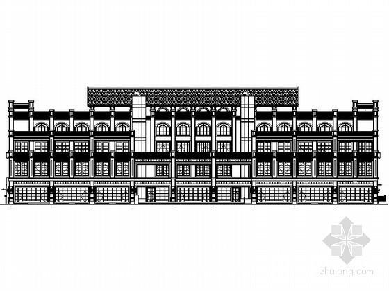 [重庆]某商业广场四层欧式商业用房建筑施工图(3号楼)