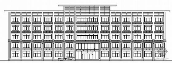 某社区中心五层办公楼建筑施工图