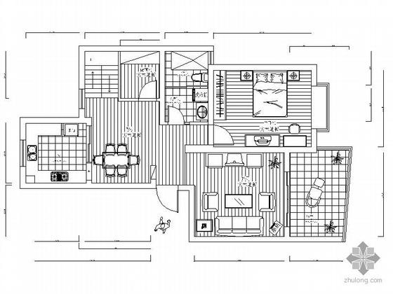 [南京]某复式楼装修方案图