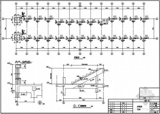 余姚市某体育场看台结构设计图