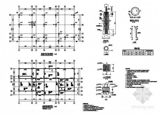 某3层异形柱框架别墅结构设计图