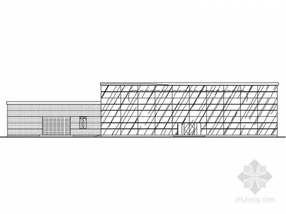 某知名汽车品牌一级网点B级店建筑施工图(纵置展厅、正面入口型)