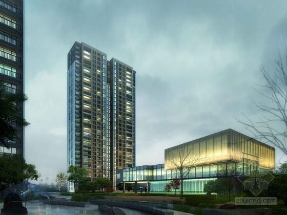 夜景住宅建筑3D模型下载