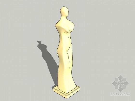女性雕塑SketchUp模型下载