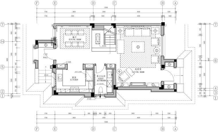 [长沙]金地三千府六期联排别墅样板间设计施工图及效果图