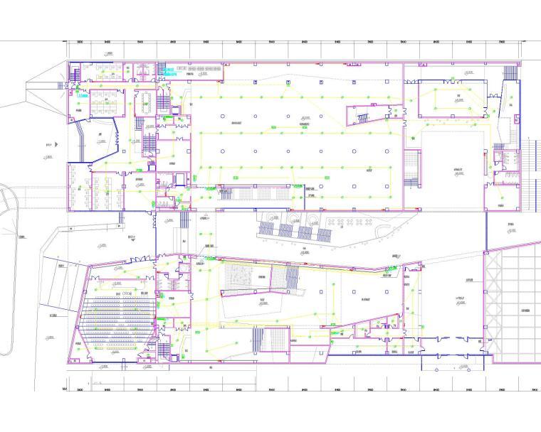 [安徽]古生物化石博物馆强电、弱电、建筑、结构设计全套图纸