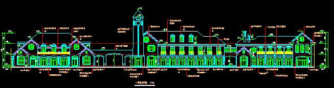 两层新中式风格商业楼全套建筑施工图