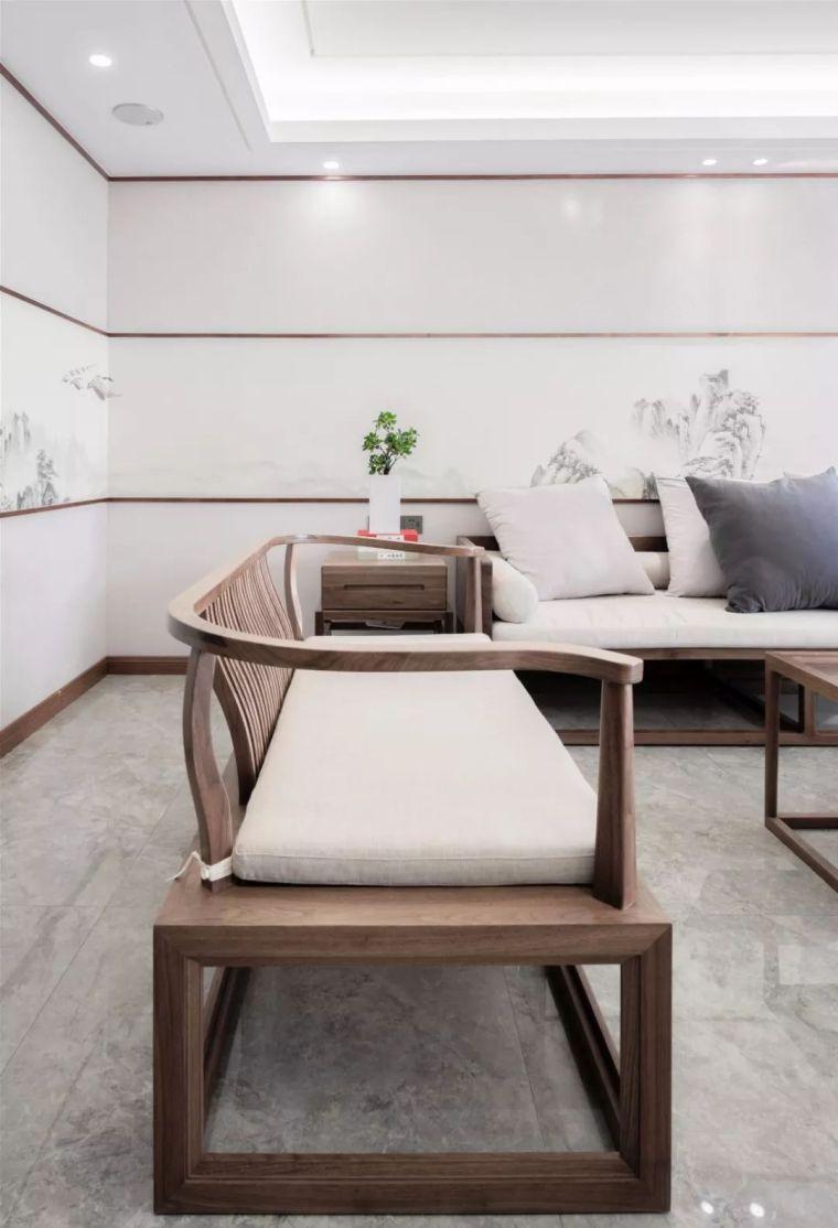 新中式徽派元素山水画为轴线的家装设计_13
