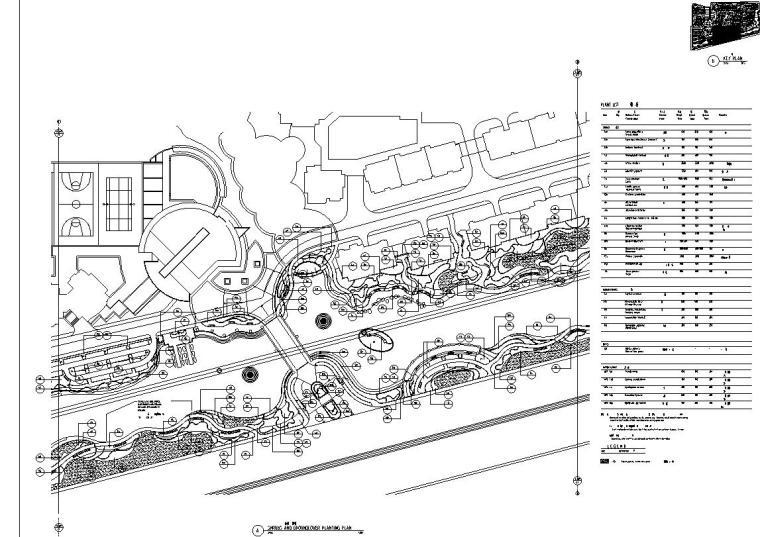 [广东]山水人家景观施工图设计(包含210个CAD+现场照片)-分区平面图