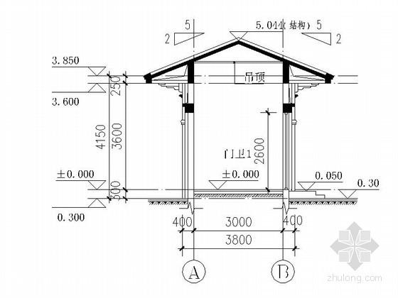 [合集]24套大门建筑施工图(学校、接待中心、公司大门、欧式)_6