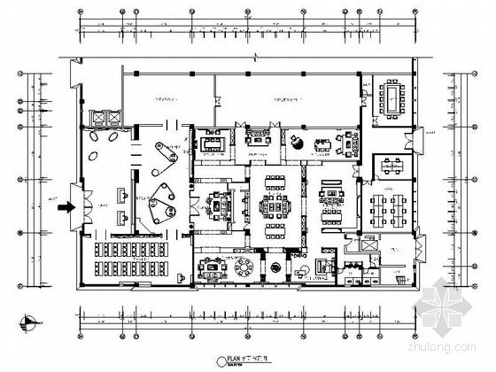 [原创]现代壁纸展示馆室内装修施工图(含效果图)