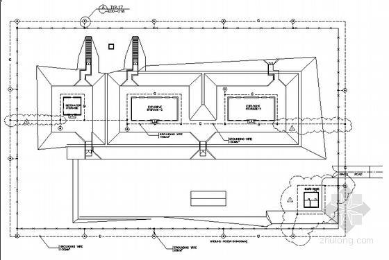 炸药库电气照明、接地全套图