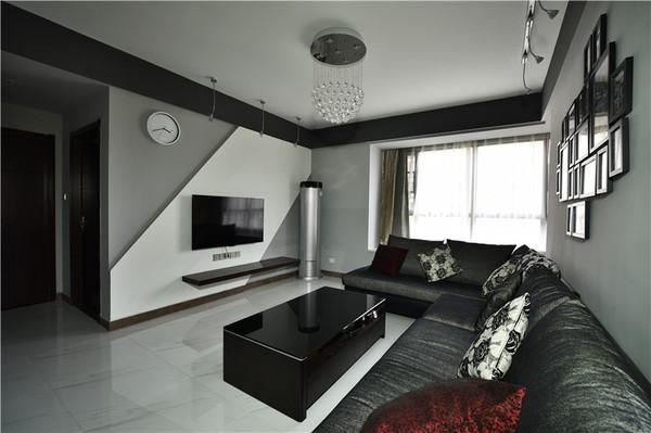 两房两厅现代简约风原来黑色也可以这么好看