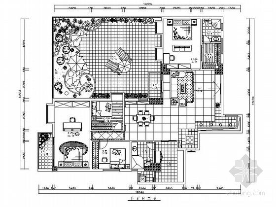 [广州]欧式风格三室两厅室内设计施工图