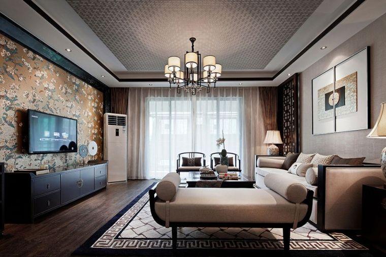 金沙湖170平新中式装饰效果图