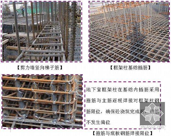 [山东]高层框剪结构住宅工程项目质量管理策划书(233页图文丰富)-关健部位操控要点