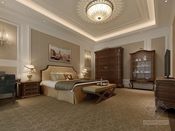 欧式风格卧室3D模型下载