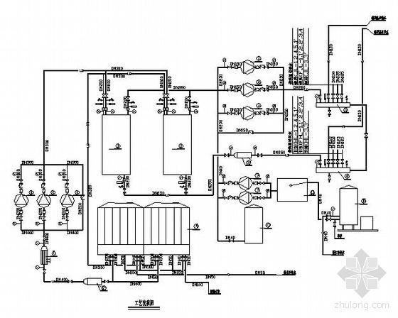 某铁路医院改造工程空调水系统图