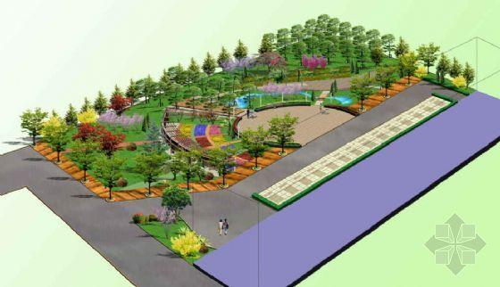 某庭院广场绿化设计鸟瞰图