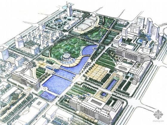 [诸暨市]某行政中心区域概念规划方案及文本(A0、A3)