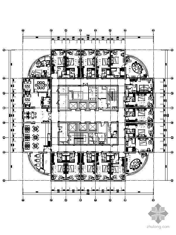 [北京]四星级酒店客房精装施工图