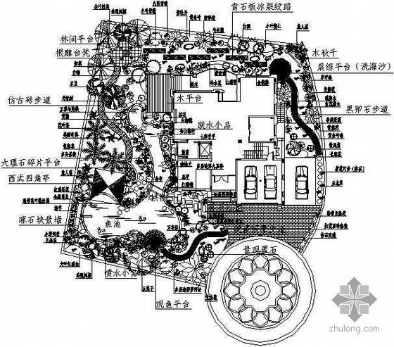 [广东]某高级住宅区别墅庭院景观设计方案