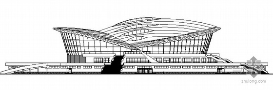 [江苏省]某篮球馆建筑方案图