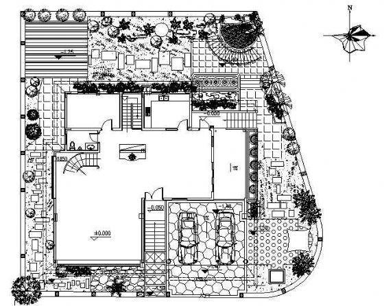 某独立式别墅景观设计施工图